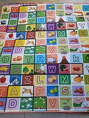 Термоковрик для детей - алфавит и дорога. Размер 1,8 м.*2 м.*0,5 см. Kaspi RED. Рассрочка.