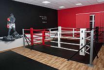 Ринг боксерский Харламов-Спорт напольный на упорах (размер в ассортименте) (6х6 (монтажная зона 7х7 м))