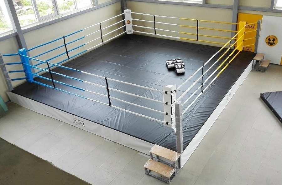 Ринг боксерский на подиуме Харламов-Спорт (размер в ассортименте) (4х4 (высота подиума 30-50 см))