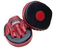 Лапы боксерские блинчик прямой Харламов-Спорт кожаные