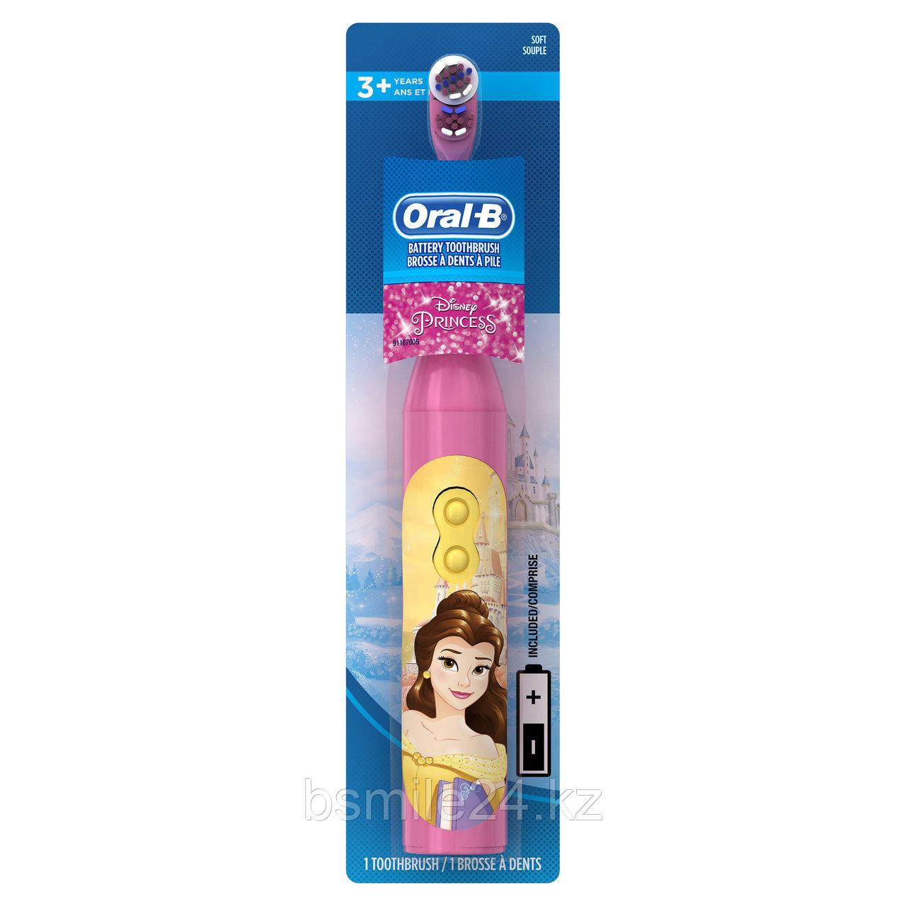 Детская электрическая зубная щетка Oral B, Disney Princess на батарейке