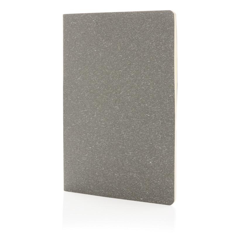 Тонкий блокнот Standard в мягкой обложке, А5, серый, Длина 21 см., ширина 14 см., высота 0,5 см., P772.072