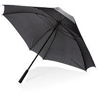 """Механический квадратный зонт XL с местом для логотипа, 27"""", черный, , высота 92 см., диаметр 102 см., P850.351"""
