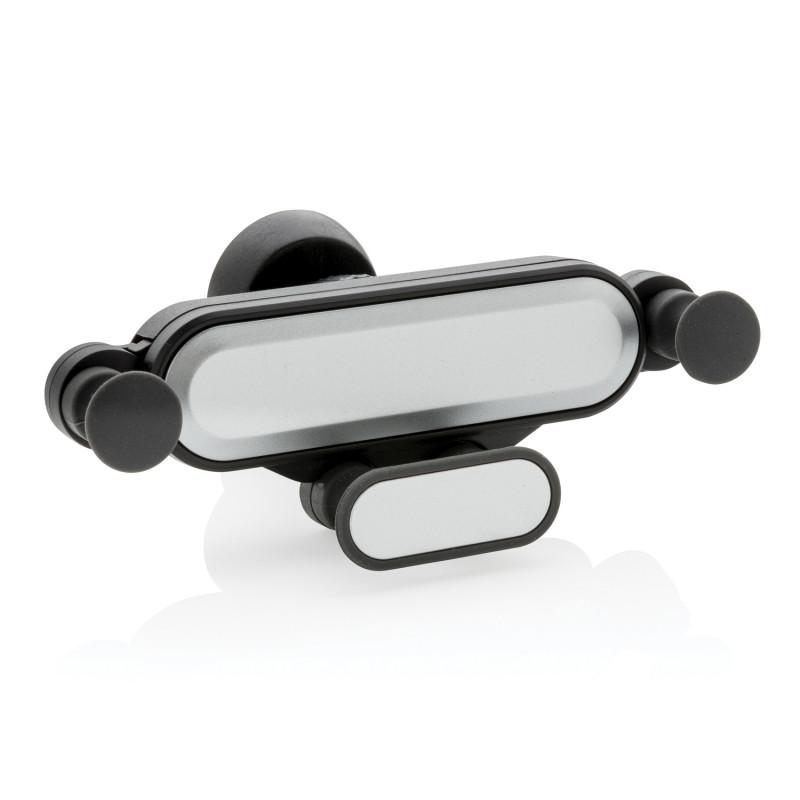 Универсальный автомобильный держатель для телефона, черный; серый, Длина 12 см., ширина 2,5 см., высота 9 см.,