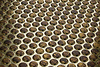 Декоративные панели 3D VERGE Buble, Мед-Золото, 3000х1000 мм Казахстан