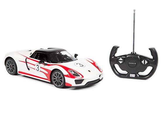 Rastar Радиоуправляемая машинка Porsche 918 Spyder, 1/14 (белый)