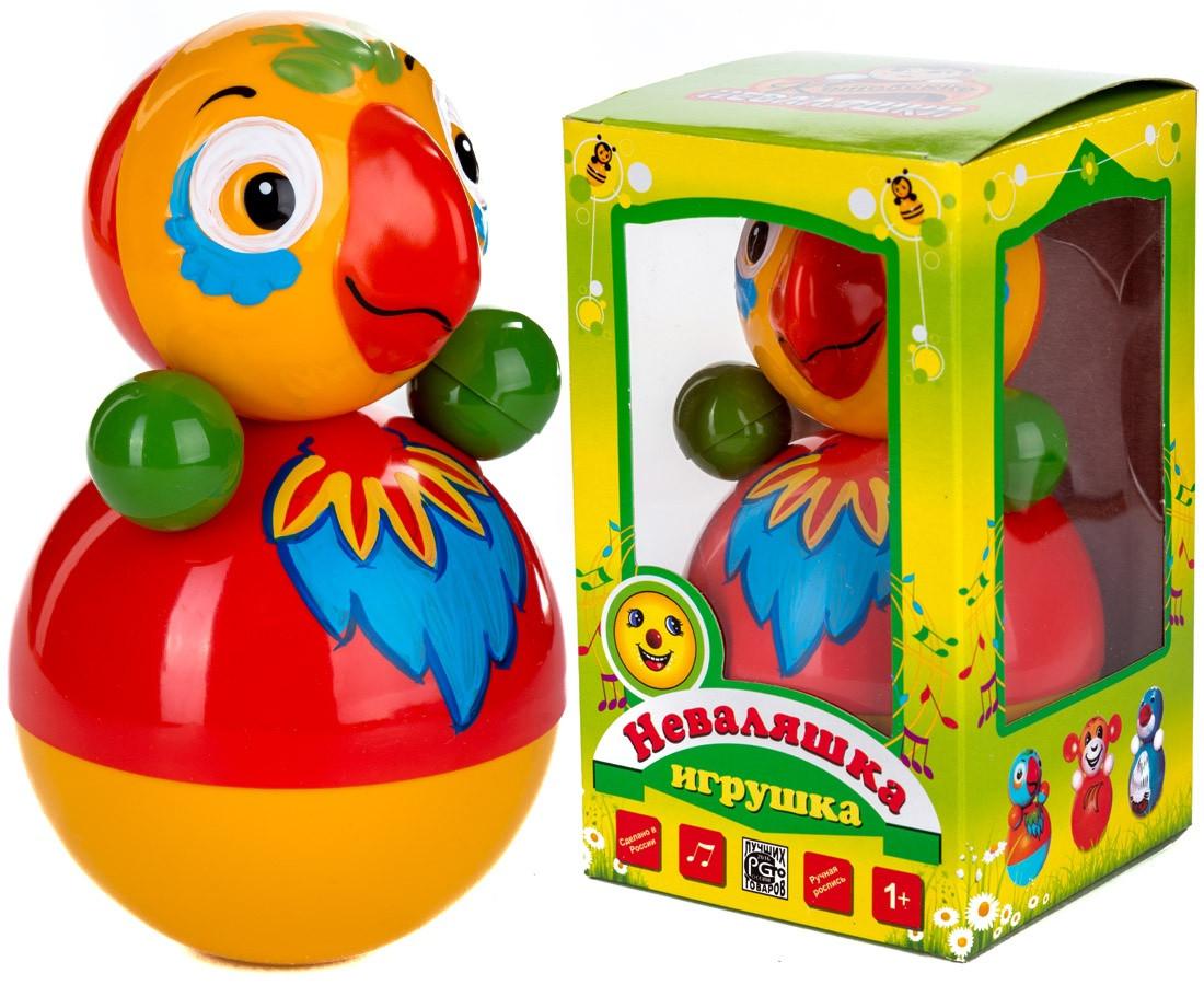 """Игрушка Неваляшка """"Попугай"""", 15 см, в ассортименте"""