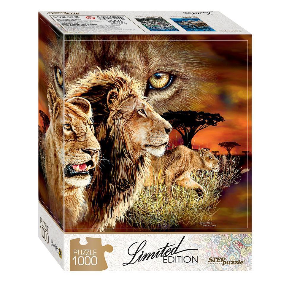 Пазл Limited Edition - Найди 10 львов, 1000 элементов