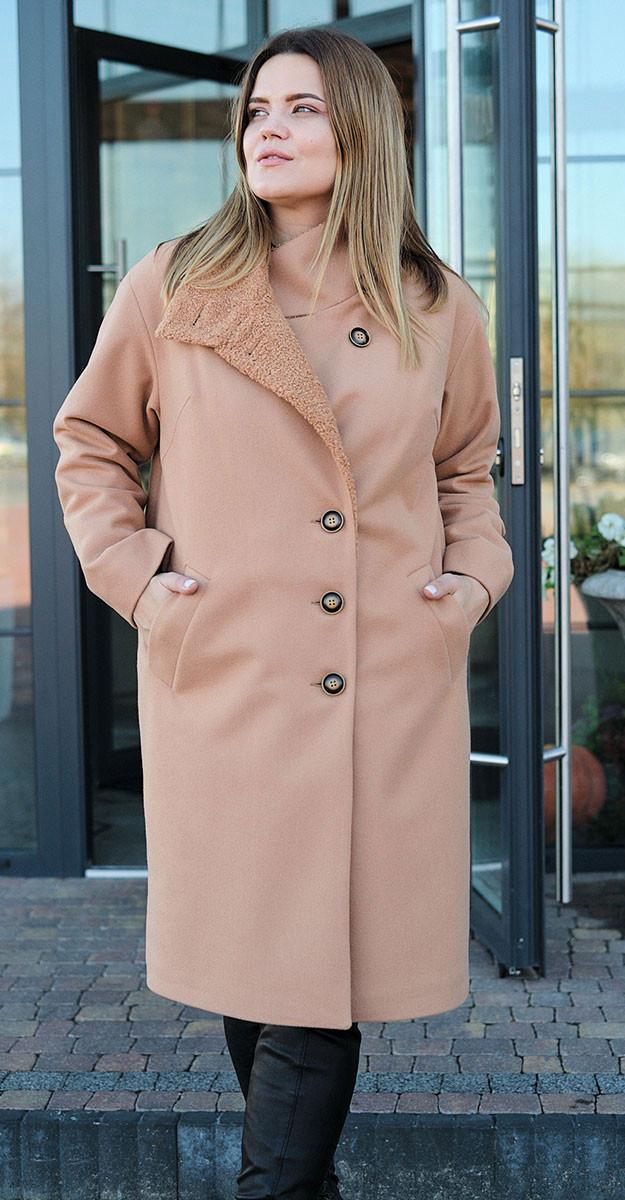 Пальто Fantazia Mod-3537, охра, 48