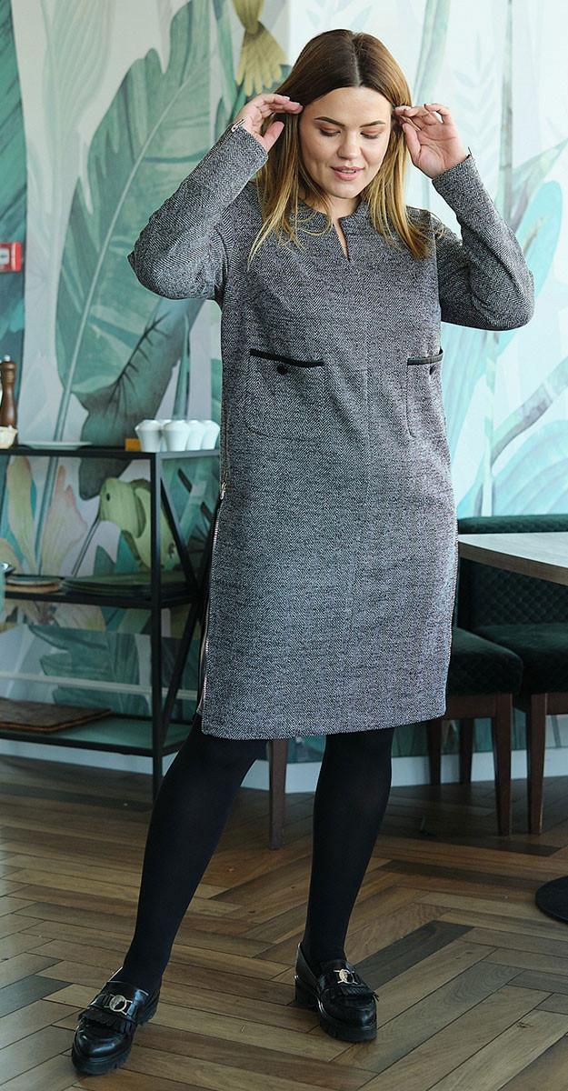 Платье Fantazia Mod-3559, светло-серый, 52