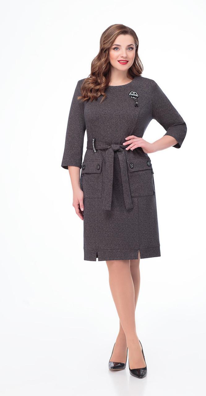 Платье Дали-2474, серый, 54