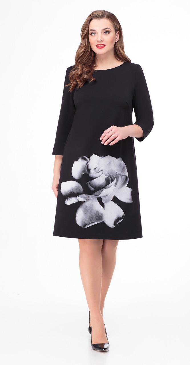 Платье Дали-5426, черный, 46