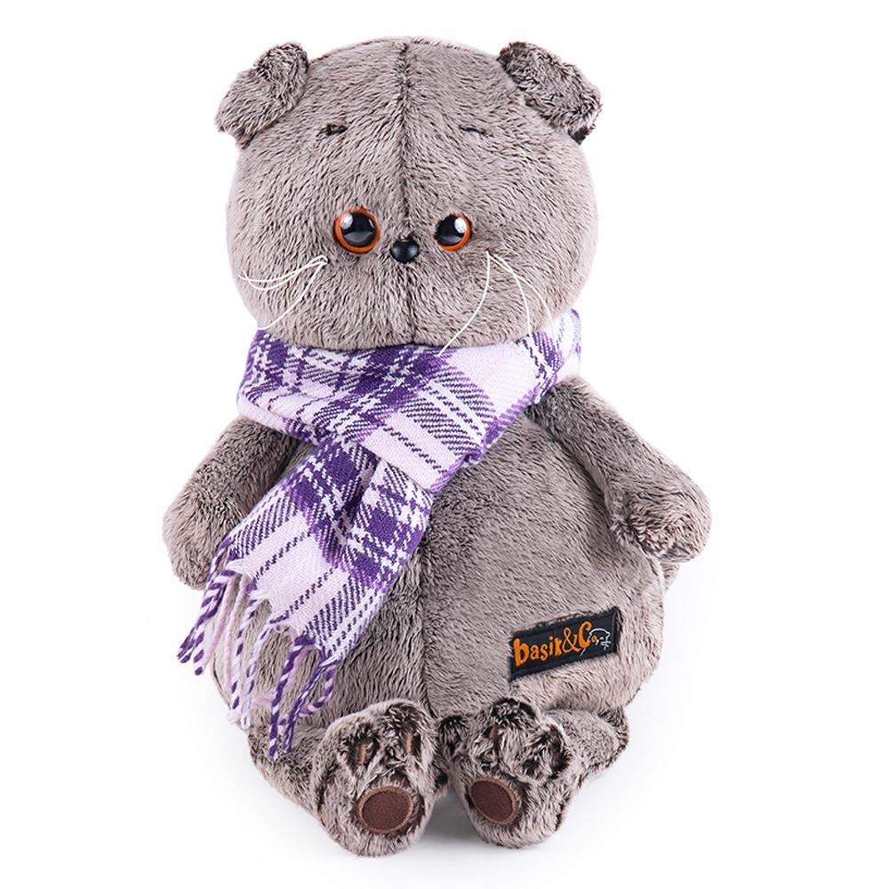"""Мягкая игрушка """"Басик в в фиолетовом шарфе"""", 25 см"""