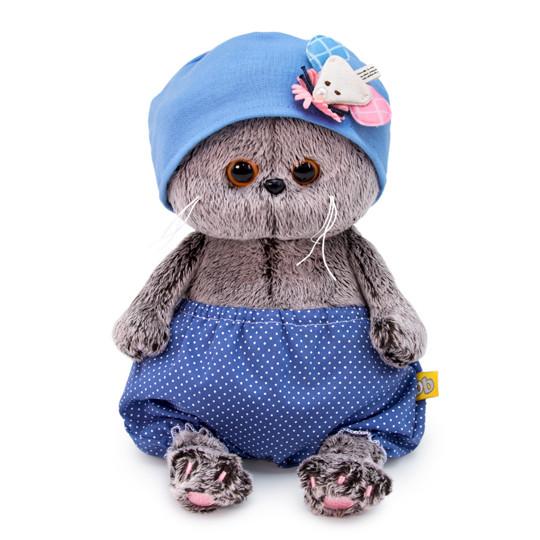 """Мягкая игрушка """"Басик Baby"""" в шапочке с мишкой, 20 см"""