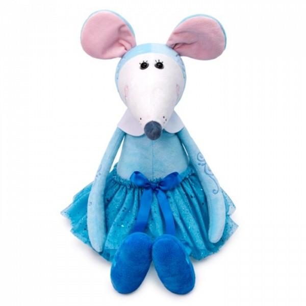 Мягкая игрушка Крыса Балерина в голубом Лилу, 31 см.