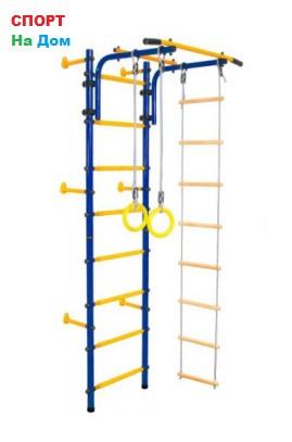Детский спорткомплекс пристенный Юный Атлет с лестницей (Высота 220 см)