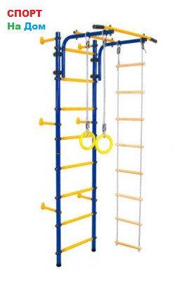 Детский спорткомплекс пристенный Юный Атлет с лестницей (Высота 220 см), фото 2