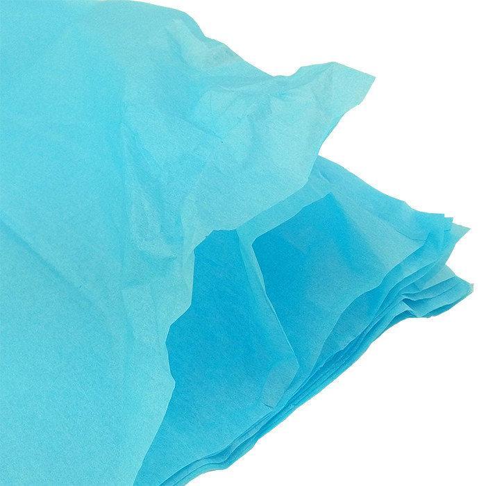 Бумага тишью, tissue paper (светло голубой) 10 листов, , 50х66 см, Алматы