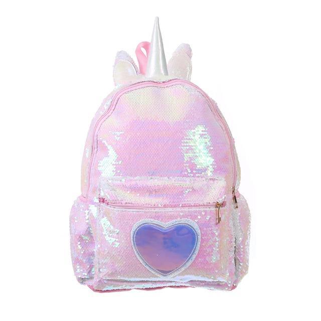 Рюкзак детский, Единорог пайетки (L33)