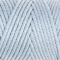 Шнур для вязания без сердечника 100 хлопок, ширина 3мм 100м/200гр (2106 голубой)