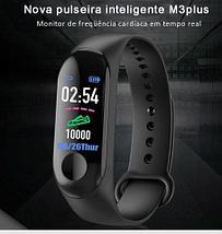 Браслет здоровья умный M3 Pro Plus 8 в 1 с функцией тонометра {+подарок} (Черный + Белый), фото 3
