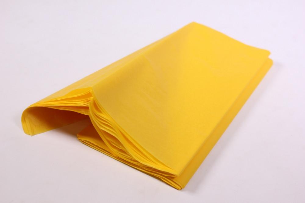 Бумага тишью, tissue paper (желтый) ,10 листов, 50х66 см, Алматы