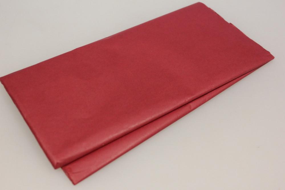 Бумага тишью, tissue paper (бордовый) 10 листов,, 50х66 см, Алматы