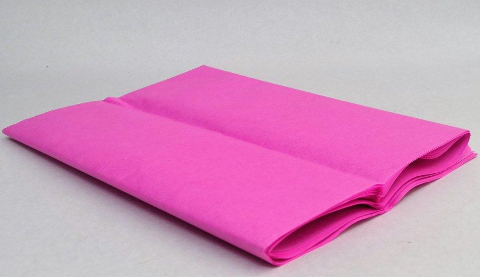 Бумага тишью, tissue paper (розовый) , 10 листов, 50х66 см, Алматы