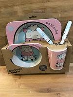 Набор детской посуды 5 предметов (бамбук)