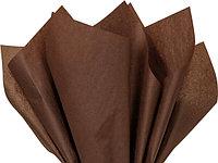 Бумага тишью, tissue paper ,шоколадный , крафтовая, 10 листов , 50х66 см, Алматы