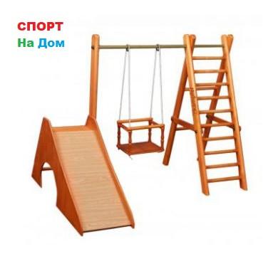 Детский спорткомплекс Карусель деревянная