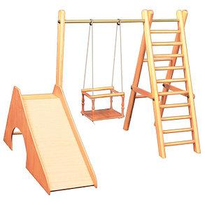 Детский спорткомплекс Карусель деревянная, фото 2