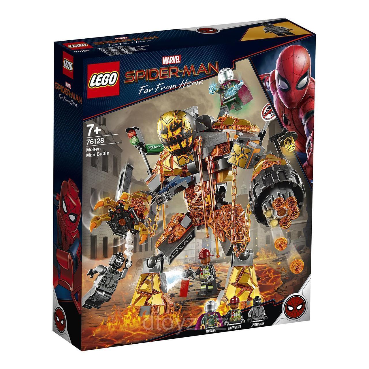 Lego 76128 Super Heroes Бой с Расплавленным Человеком, Marvel
