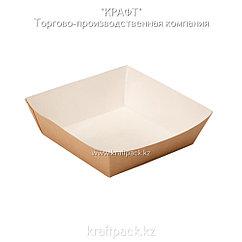 Лоток для картофеля фри,хот-догов (Ламинированный) 110*110*42 (Eco Tray 550) DoEco(100/300)