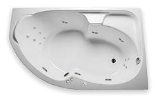 Акриловая гидромассажная ванна Диана 160х100х65 см.(Общий массаж, спина), фото 3