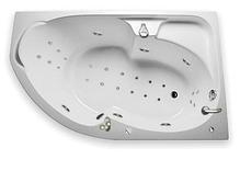 Акриловая гидромассажная ванна Диана 160х100х65 см.(Общий массаж, спина, ноги), фото 3