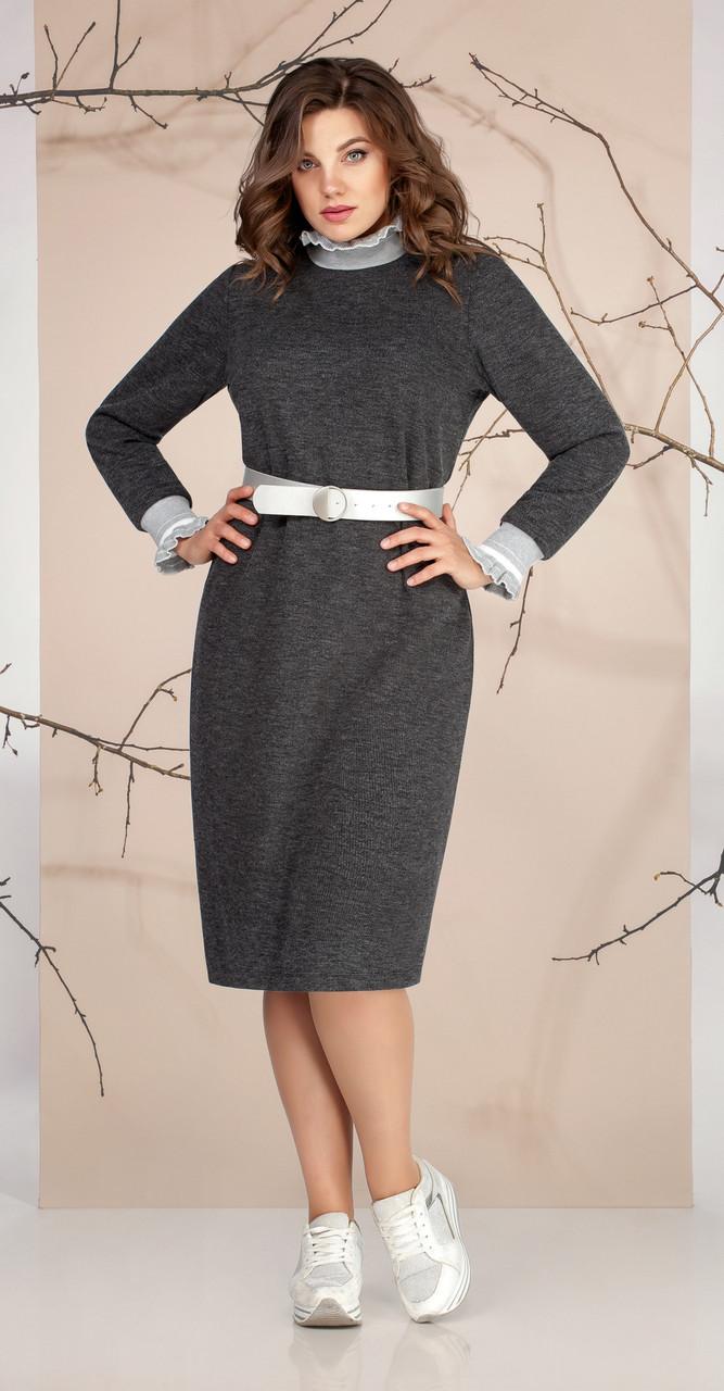 Платье Ивелта плюс-1665, серый, 48