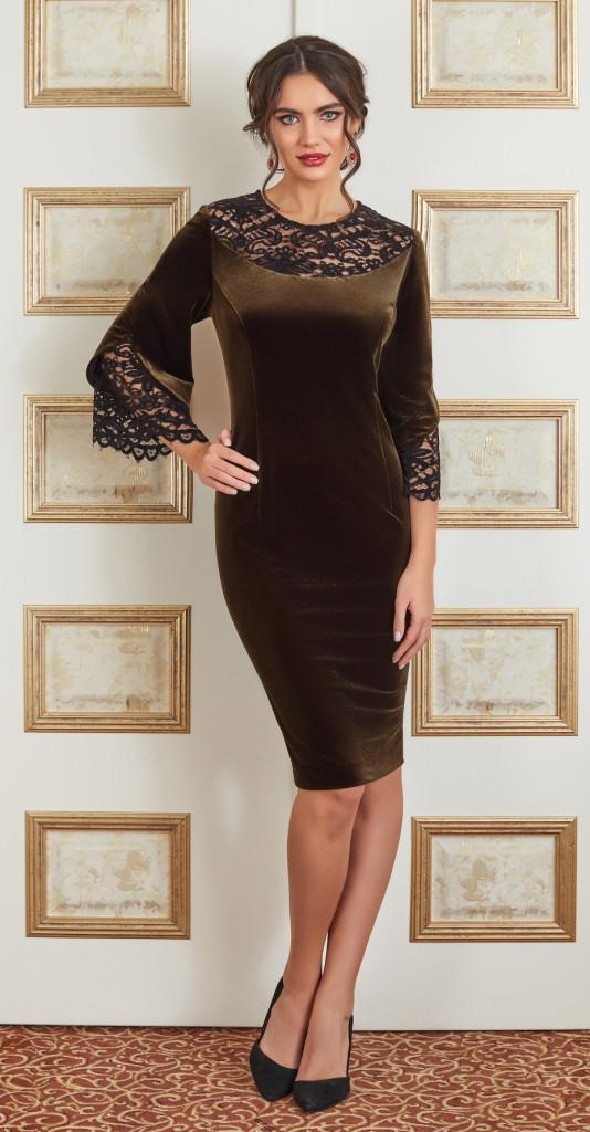 Платье Lissana-3877, коричневый, 50