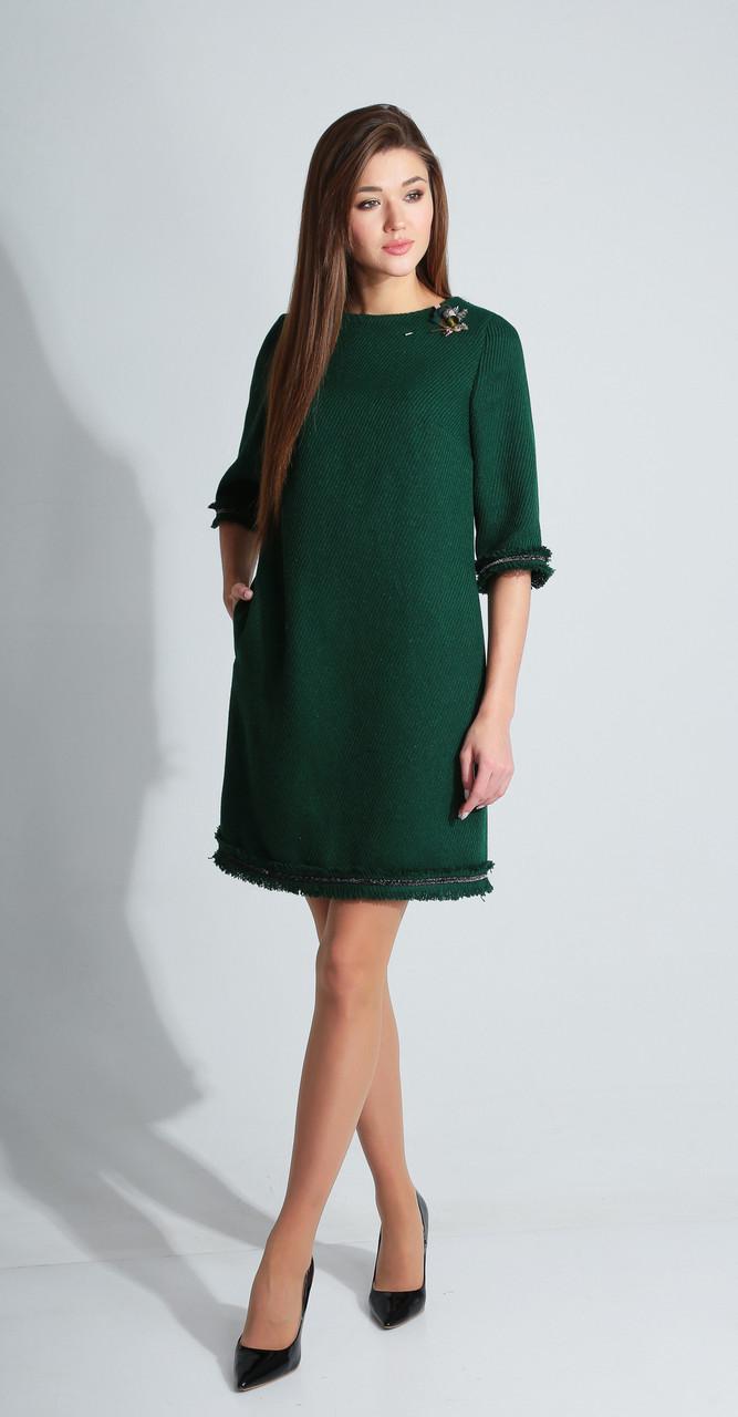 Платье Axxa-55093а, зеленый, 40