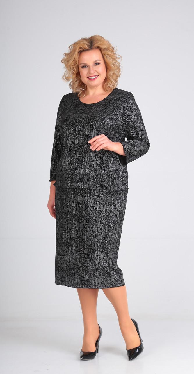 Платье Диамант-1488, серые тона, 58