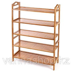 Обувница закрытый бамбук 5 полок