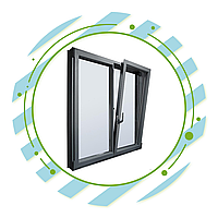 Распашные алюминиевые окна, фото 1