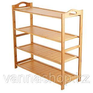 Этажерка для обуви 4 полки закрытый бамбук