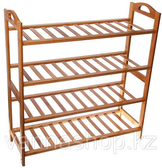 Обувница бамбук открытые полочки (4-ка)