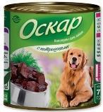 Оскар 750гр с Потрошками Консервы для собак