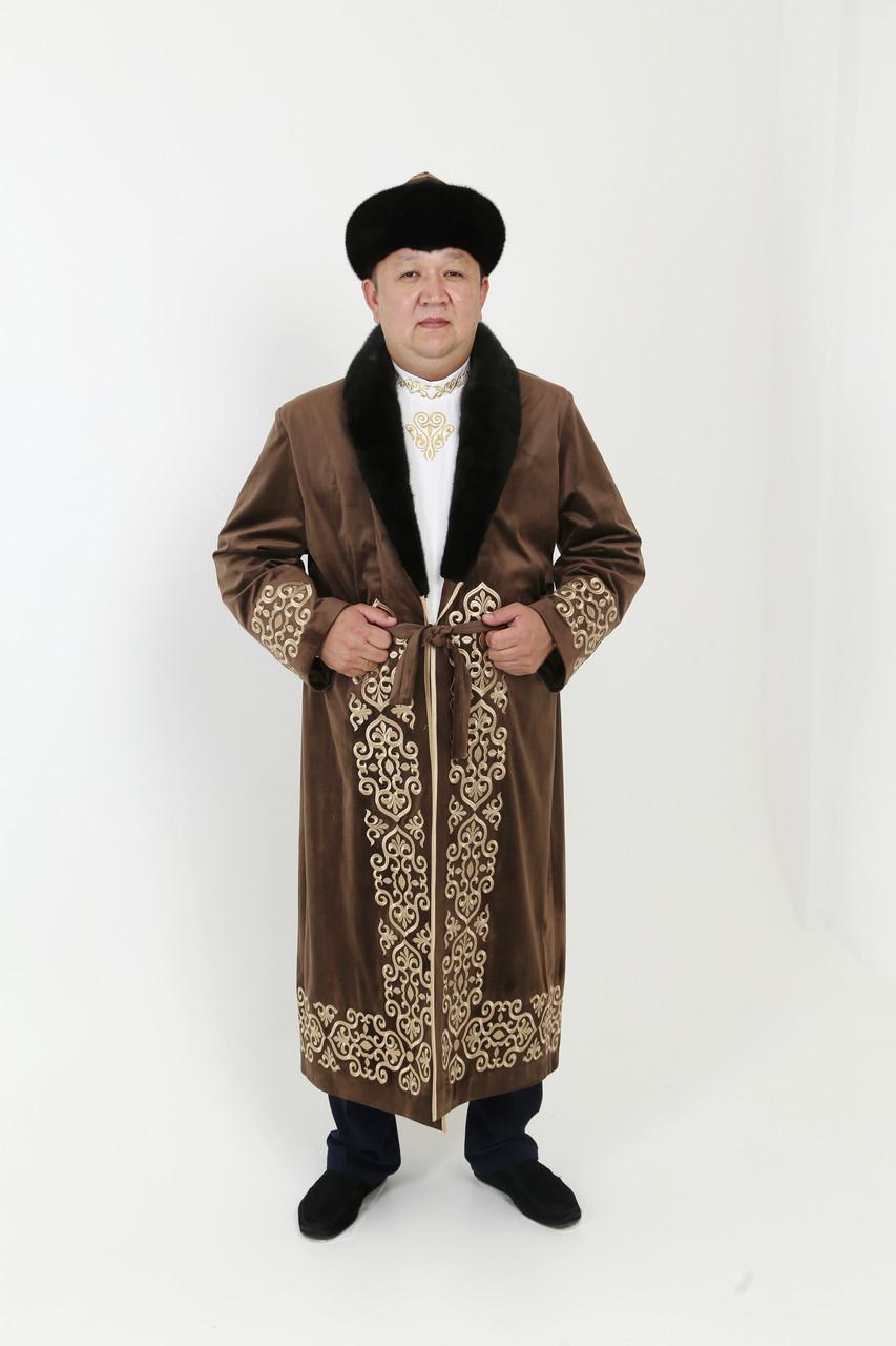 Мужской чапан с норкой - фото 2