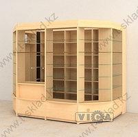 Пристенный павильон из витрин - 6 м/кв