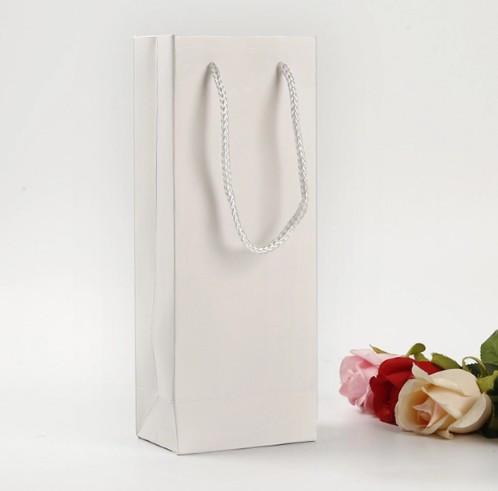 Бумажный Пакет для Вина | Белый