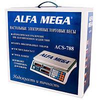 Весы настольные торговые электронные ALFA MEGA ACS-788
