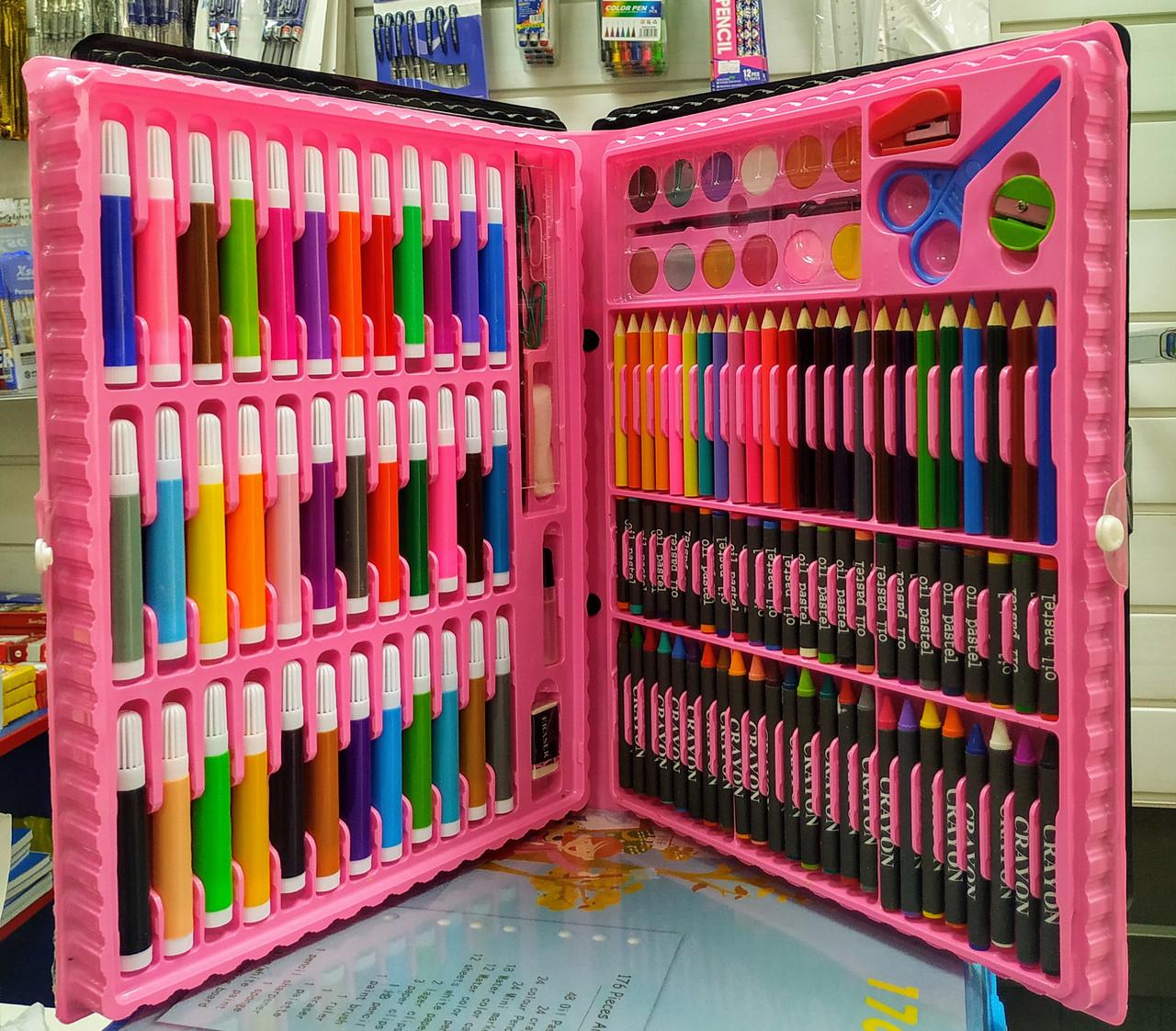 Детский набор для творчества 150 предметов (художественный набор для рисования в чемоданчике) - фото 2